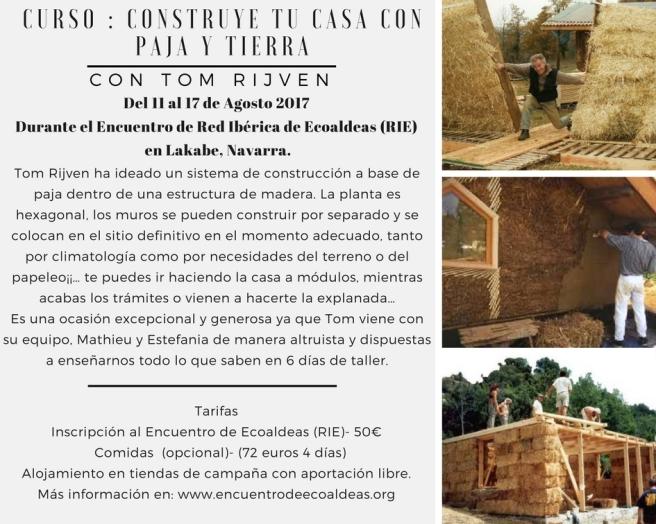 CURSO DE CONSTRUCCIÓN CON BALAS DE PAJA